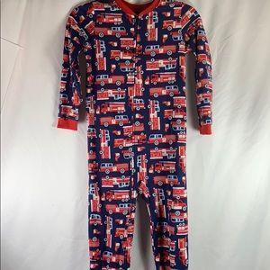 Carters Firetruck Footed Pajamas